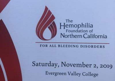 Hemophilia Foundation N California 2019